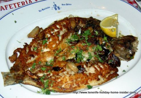 Grilled fresh fish of most likely Viejas.