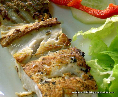 Grilled Seabass as one of value for money day menus at Bar Cafeteria Paraiso on the