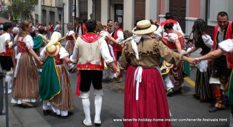 Group dancing folk dance