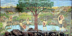 Guanche pool  and garden mural Taoro Park Tenerife