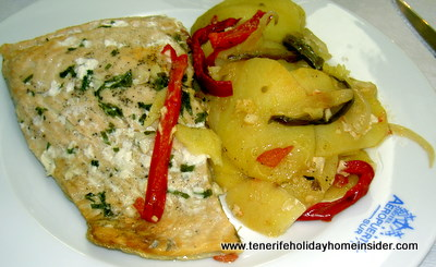 Hake fish dish in a herbal sauce