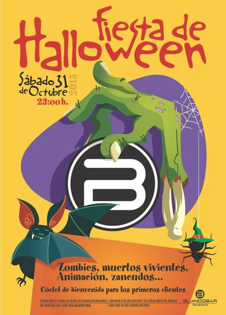 Blanco Bar Halloween Poster 2015