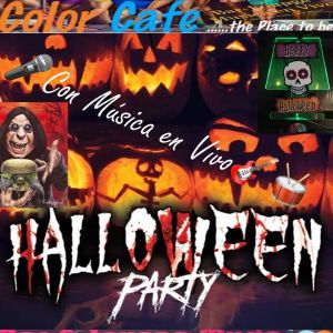 Halloween Color Cafe Plaza Charco live music which is bound not to stop after October 31, as live music comes virtually on the house