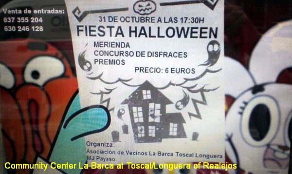 Halloween Toscal Longuera Party for kids in 2015