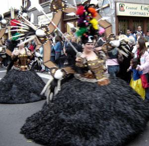 Head decorations of carnival Tenerife