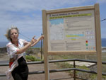 Hiking map board outside the town of Punta de Hidalgo.