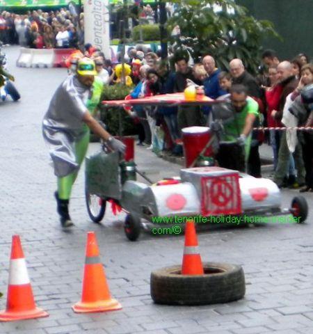 hilarious formula 1 car in Tenerife