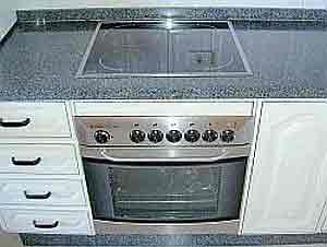 Electrical hob with oven