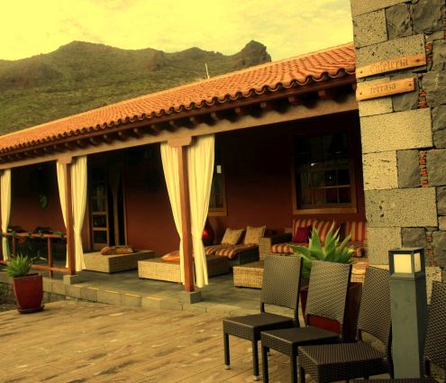 Hotel Casona del Patio Terrace.