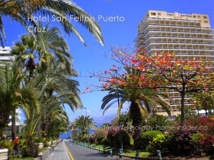 Hotel San Felipe seen from the town Rambla