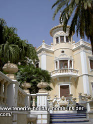 House with tower Rambla Santa Cruz mansion
