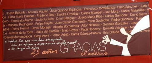 How to say thank you by casting it in stone can be seen on El Aderno shop in Buenavista del Norte