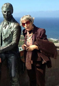 Humboldt statue in Tenerife on lookout terrace.