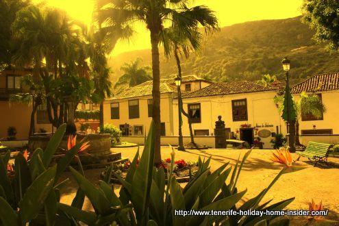 Icod de los Vinos Casco Antiguo Plaza de la Pila.