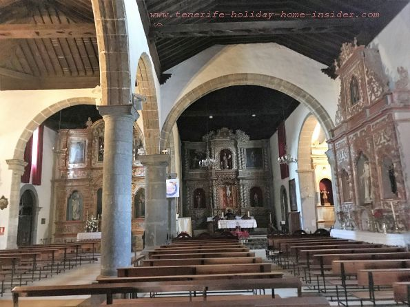 Iglesia Church San Juan Bautista with Tuscan columns and two naves without aisles
