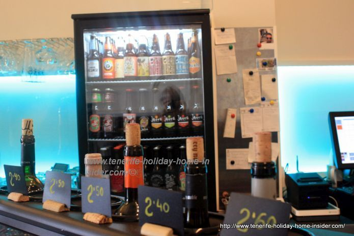 Innovated bar with exotic beers and a pin-board beside
