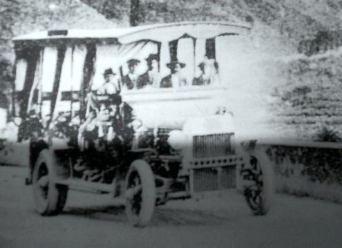 Jardinera a 1920 Tenerife mini bus real vintage vehicle.