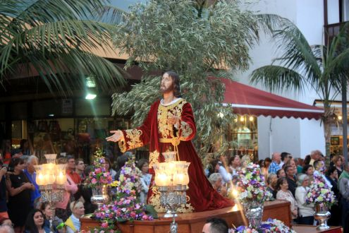 Jesus Christ float in Puerto de la Cruz.