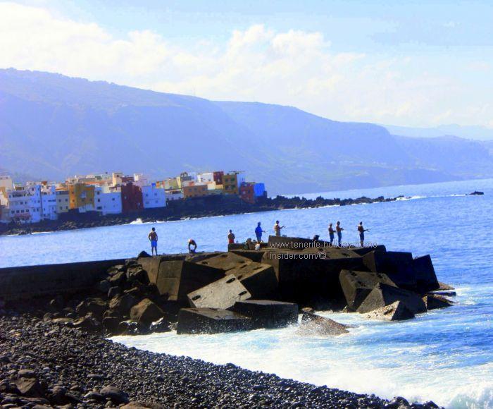 Jetty San Felipe with Tenerife fishermen.