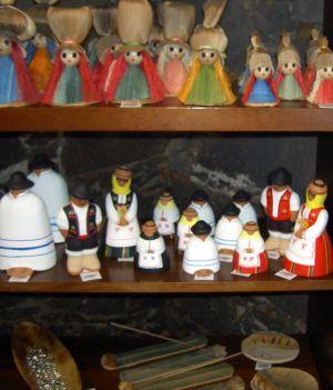 Casa de la Aduana Puerto de la Cruz souvenirs with examples of items on offer.