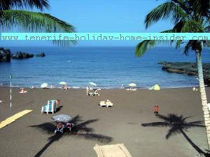 A Tenerife beach by Los Gigantes, good for eyes, skin and much more like all the island's seashores