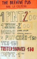 La colmena specials by a Puerto sports pub