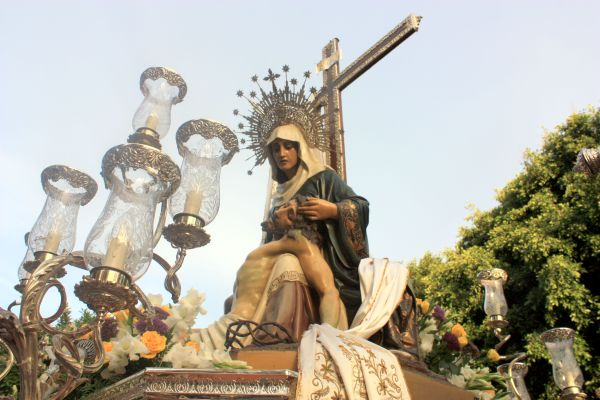 La Dolorosa sculpture.