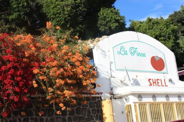 La Finca board in Calle El Taroso Chayofa.