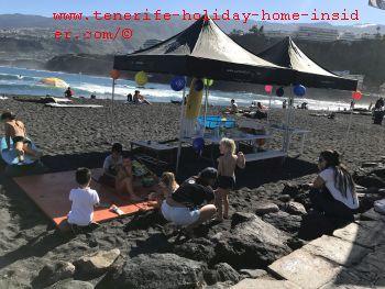 La Marea Surfschool learners day for children on Saturdays a little Fiesta