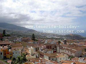 La Orotava Spain town panorama - ocean view