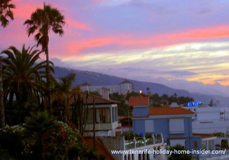 La Paz Tenerife view with sundown.