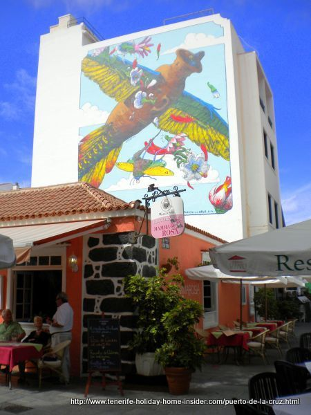 La Ranilla with street art by Restaurante Mama Rosa of Tenerife North