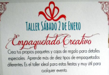 La Ranilla workshop advertisement  for gift package making