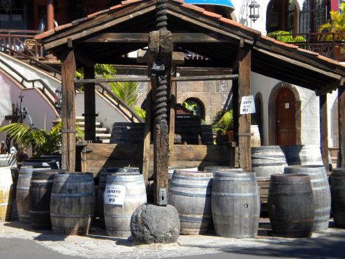 Lagar the typical Tenerife wine press.