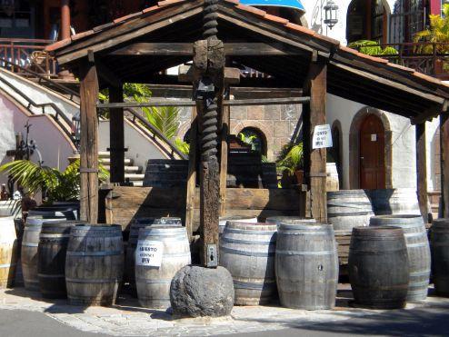 Lagar the typical Tenerife wine press.