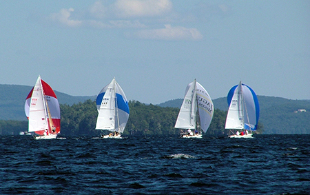Lake sailing Winnipesaukee USA