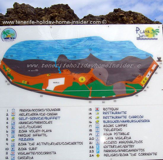 Landscaping design map of Playa Jardin Tenerife Spain