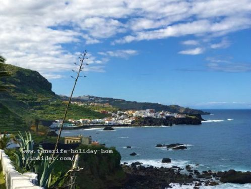 Las Aguas Tenerife fishing village and hiking trail of surprises of San Juan de la Rambla both of which on the photo