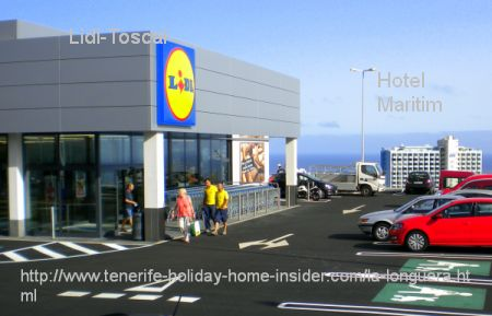 Lidl Tenerife with El Burgado of Toscal Longuera by Puerto de la Cruz as an example of its stores which all follow more or less the same shop outlay and business style.