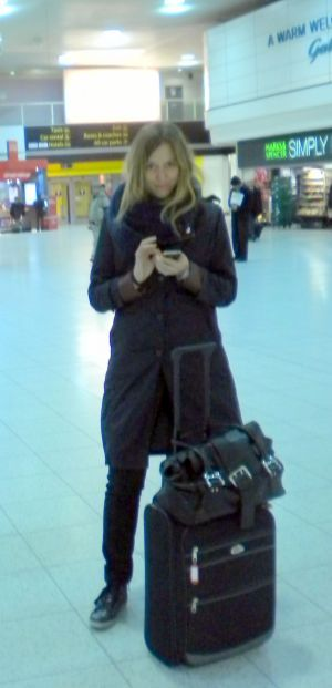 London Gatwick airport with an Iberia traveler.