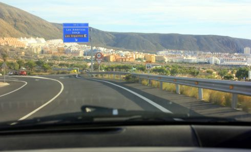 Los Cristianos off TF28 captured from car.