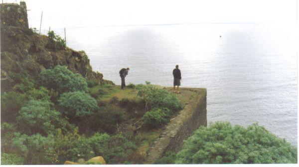 Los Realejos cliffs by the ruin La Gordeguela. No more access to both.