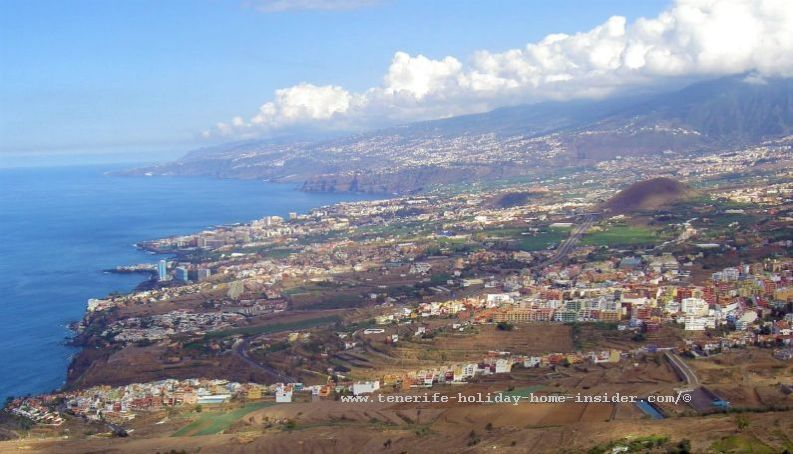 Realejos coastal region which includes San Vincente and Tigaiga in the foreground