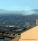 Los Realejos fires 2012 on August 15 seen from La Longuera  balcony