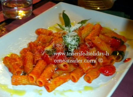 Macaroni Ardente of Italian Restaurant in Toscal Longuera