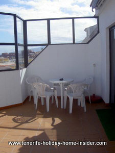 Main balcony of Tenerife apartment rental Los Realejos, Longuera, Toscal
