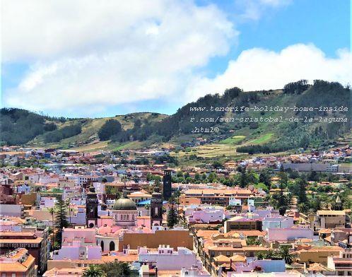Main Casco Old Quarters road grid of San Cristobal de la Laguna Tenerife. Spots its three important pedestrian lanes in the map below