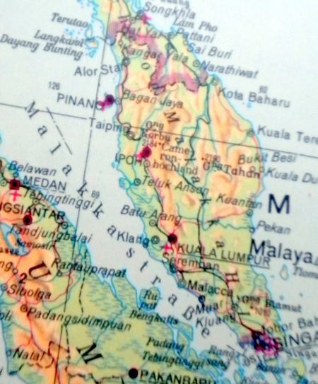 Malaysia map with Penang and Langkawi map