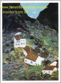 Malerische Behausungen in Masca auf Teneriffa.
