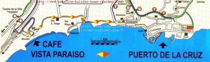 Map for Bollullo La Orotava Tenerife